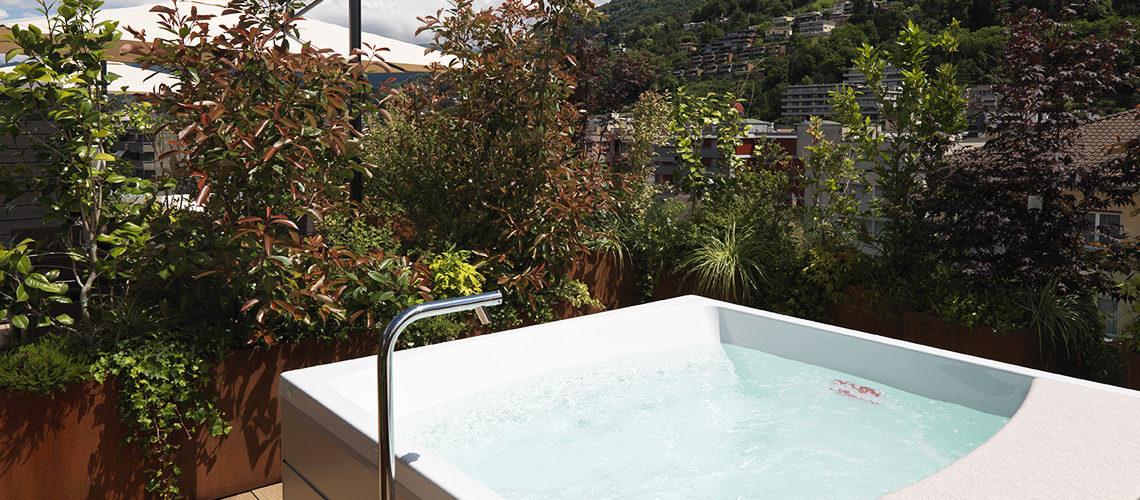 Smart Living Lugano - Appartamenti ammobiliato in affitto - La Terrazza con Giardino e Piscina